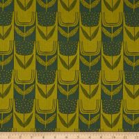 Andover Perennial Patchwork Tulips Olive