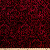 Shannon Minky Luxe Cuddle Seal Lace Cardinal