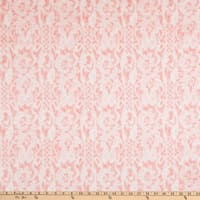 Shannon Minky Luxe Cuddle Seal Lace Coral