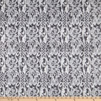 Shannon Minky Luxe Cuddle Seal Lace Graphite