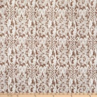 Shannon Minky Luxe Cuddle Seal Lace Simply Taupe