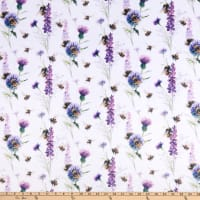 Shannon Studio Digital Minky Cuddle Bee Garden Amethyst