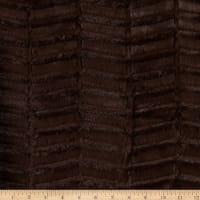 Shannon Minky Luxe Cuddle Oxford Chocolate