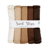 "Shannon Minky Cuddle Solid 10"" Strips 5 Pack Cafe"