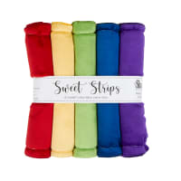 "Shannon Minky Cuddle Solid 10"" Strips 5 Pack Rainbow"