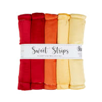 "Shannon Minky Cuddle Solid 10"" Strips 5 Pack Sunset"