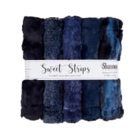 "Shannon Minky Luxe Cuddle 10"" Strips 5 Pack Chambray"