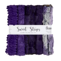 """Shannon Minky Luxe Cuddle 10"""" Strips 5 Pack Eggplant"""