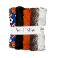 "Shannon Minky Cuddle 10"" Strips 5 Pack Allstars"