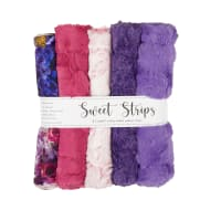 """Shannon Minky Cuddle 10"""" Strips 5 Pack Peony"""
