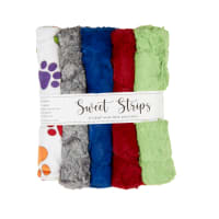 "Shannon Minky Cuddle 10"" Strips 5 Pack Rainbow Paws"