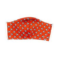 Fabtrends Cotton Poplin Facemask Soccer Ball Houndstooth Rust