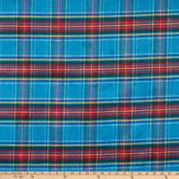 Fabric Merchants Plaid Wool Melton Blue/Red