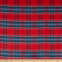 Fabric Merchants Plaid Wool Melton Red/Green