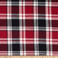 Fabric Merchants Plaid Wool Melton Red/Black/White