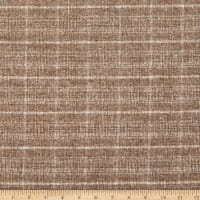 Fabric Merchants Plaid Wool Melton Sand/Ivory
