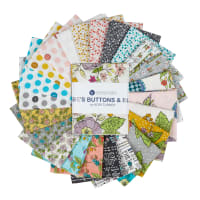 Windham Fabrics Bubbie's Buttons & Blooms Fat Quarter Bundle 23pcs Multi