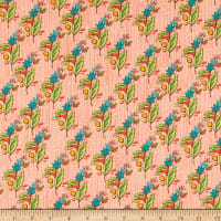 Windham Fabrics Bubbie's Buttons & Blooms Grandma Olive's Nosegay Salmon