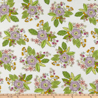 Windham Fabrics Bubbie's Buttons & Blooms Grandma Sharon's Bouquet Oyster Stew