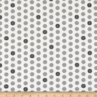 Windham Fabrics Bubbie's Buttons & Blooms Polka Dot Buttons Mushroom Soup