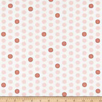 Windham Fabrics Bubbie's Buttons & Blooms Polka Dot Buttons Strawberry Fluff