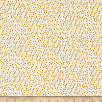 Windham Fabrics Bubbie's Buttons & Blooms Sprinkle Hearts Curry