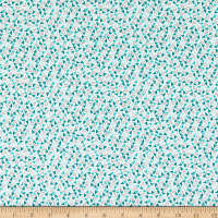Windham Fabrics Bubbie's Buttons & Blooms Sprinkle Hearts Turquoise Icing