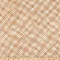Kaufman Collection CF Metallic Grid Lines Roasted Pecan