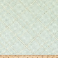 Kaufman Collection CF Metallic Grid Lines Seafoam