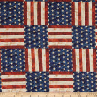 "Kaufman America The Beautiful 108"" Wide Back Star And Stripe Vintage"