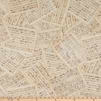 """Kaufman Library Of Rarities 108"""" Wide Back Music Notes Antique"""