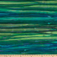 Kaufman Artisan Batiks Patina Handpaints Stripes Emerald