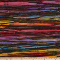 Kaufman Artisan Batiks Patina Handpaints Stripes Wild