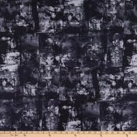"""Kaufman Warehouse District 108"""" Wide Back Abstract Black"""