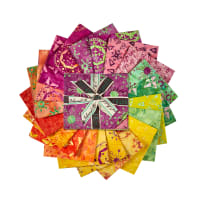 Island Batik Mandala Magic Fat Quarter Pack 12 Pcs. Multi