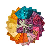 Island Batik Sunset Plumes Fat Quarter Pack 12 Pcs. Multi