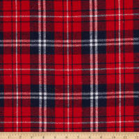 Fabric Merchants Flannel Plaid Red/Navy/White