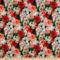 Liberty Fabrics London Tana Lawn Hazy Days Orange/Green/White