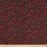 Liberty Fabrics London Tana Lawn Star Anise Black/Red/Purple
