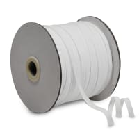"1/4"" Elastic Band - 100 Yard Spool White"