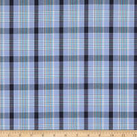 Oxford Shirting Plaid Blue