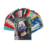 Michael Miller Reversable Face Mask Kit (Makes 12) Multi