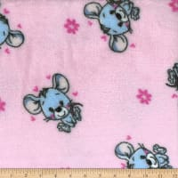 Plush Fleece Mouse Pink