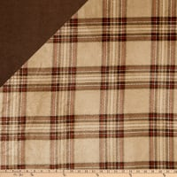 Plush Fleece 2 Sided KC Plaid Tan