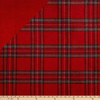 Plush Fleece 2 Sided KC Plaid Red