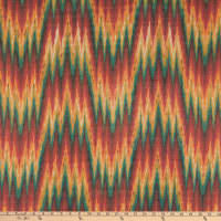 Tribal Flame Stitch Woven Teal/Red/Yellow