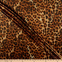 Fabtrends Ponti Foil Animal Cheetah Brown Gold