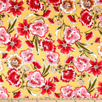 Fabtrends DTY Floral Yellow/Red