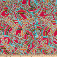 Fabtrends DTY Crazy Paisley Bright Pink