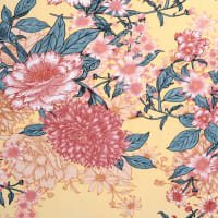 Fabtrends DTY Asian Floral Yellow